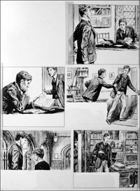 The Fifth Form at St. Dominic's - Spy (TWO pages) art by Cecil Doughty
