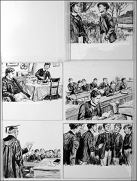 The Fifth Form at St. Dominic's - Tea (TWO pages) art by Cecil Doughty