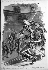 Captives of the Crimson Sword art by Cecil Doughty