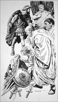 Tarquin the Etruscan Tyrant King of Rome art by Cecil Doughty