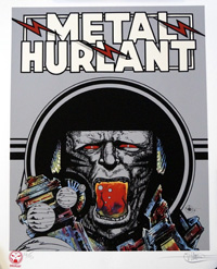 Metal Hurlant art by Philippe Druillet