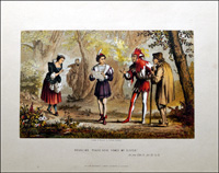 Scenes from Shakespeare - As You Like It art by Robert Dudley