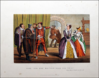 Scenes from Shakespeare - Merry Wives of Windsor art by Robert Dudley