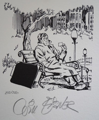 The Bench art by Will Eisner