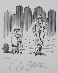 The Windy City art by Will Eisner