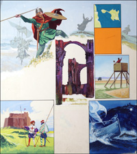 Lindisfarne - The Holy Isle art by Ron Embleton