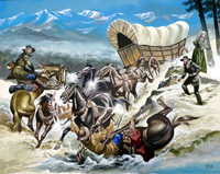 The Winning of the West 3 art by Ron Embleton