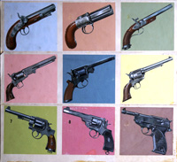 Pistols Through the Ages art by Dan Escott