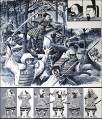 The War-Lords of Japan art by Dan Escott