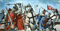 The Defeat of the Teutonic Knights art by Dan Escott