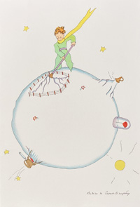 The Little Prince Cleaning the Volcanoes by Antoine de Saint Exupery