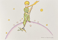 The Little Prince keeping the Baobabs away by Antoine de Saint Exupery