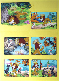 Leo The Friendly Lion - Crown for the Lion King art by Bert Felstead