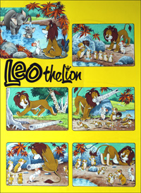 Leo The Friendly Lion - What A Shower art by Bert Felstead