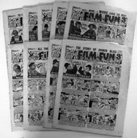 Collection of 9 early Film Fun Comics 1950