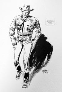 Gunslinger art by Alfonso Font