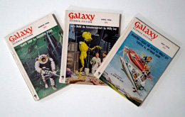 Galaxy Science Fiction – 3 consecutive Issues March 1956, April 1956 and May 1956 by Frederik Pohl, L. Sprague de Camp, James E. Gunn, Willy Ley, R. DeWitt Miller, Vaughan Shelton, Edward W. Ludwig, Jim Harman, Arthur Sellings, et al