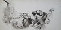 Anger at The Roadside art by Giorgio de Gaspari