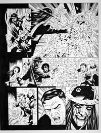Dr Who: The Phantom Piper 4-3 art by Martin Geraghty