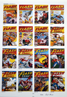 PUBLISHER'S PROOF PAGE: Photo-Journal Guide to Comic Books - Flash 1 - 16 by (Book written by Ernst Gerber with an introduction by Stan Lee)