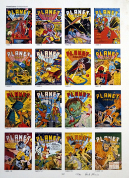 PUBLISHER'S PROOF PAGE: Photo-Journal Guide to Comic Books - Planet Comics 1 - 16 by (Book written by Ernst Gerber with an introduction by Stan Lee)