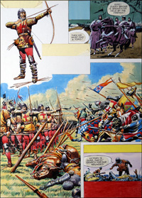 The Battle of Agincourt art by Alberto Giolitti