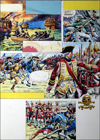 General Wolf and the Battle of Quebec art by Alberto Giolitti