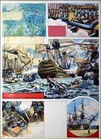Victory at Trafalgar art by Alberto Giolitti