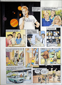 Jason Donovan Story A (TWO pages) art by Maureen & Gordon Gray