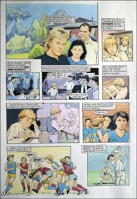 Jason Donovan Story C (TWO pages) art by Maureen & Gordon Gray