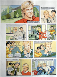 Jason Donovan Story D (TWO pages) art by Maureen & Gordon Gray