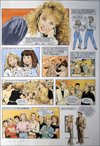 Kylie Minogue - Kylie's Story (TWO pages) art by Maureen & Gordon Gray