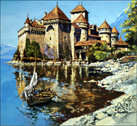 The Chateau de Chillon art by Harry Green