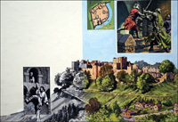 Ludlow Castle - Night of Treachery art by Harry Green
