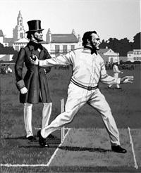 Alfred Mynn - Legendary Cricketer art by Harry Green