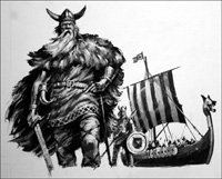 The Vikings art by Harry Green