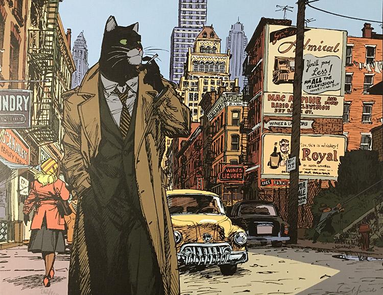 Blacksad, New York Detective by Juanjo Guarnido at the Illustration Art Gallery