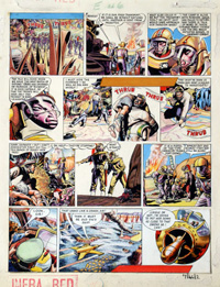 Dan Dare: Rogue Planet art by Frank Hampson