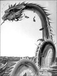 The Gloucester Sea Serpent art by Richard Hook