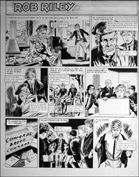 Rob Riley - Grandad the Coward art by Stanley Houghton