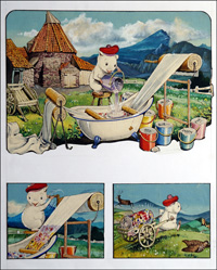 Gulliver Guinea Pig Tartan Tales (TWO pages) art by Gordon Hutchings