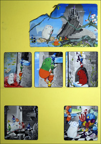 Gulliver Gets Colour (FOUR pages) art by Gordon Hutchings