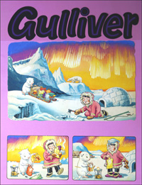 Gulliver's Hot Time at the North Pole (TWO pages) art by Gordon Hutchings