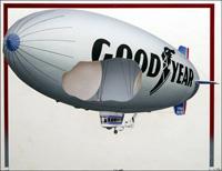 Goodyear Blimp art by Len Huxter