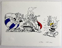 Asterix And His Three Closest Pals art by Albert Uderzo