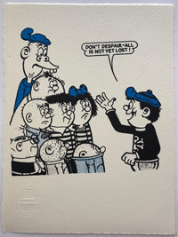 The Bash Street Kids urged not to despair art by Beano comic artist