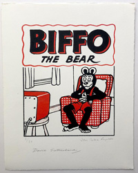 Biffo The Bear Watches Telly art by Beano comic artist