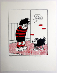 Dennis The Menace Says I'm Bored art by Beano comic artist