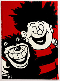 Dennis and Gnasher art by Beano comic artist