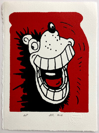 Happy Gnasher art by Beano comic artist